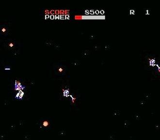 The Super Dimension Fortress Macross (1985 video game) - An in-game screenshot of The Super Dimension Fortress Macross.