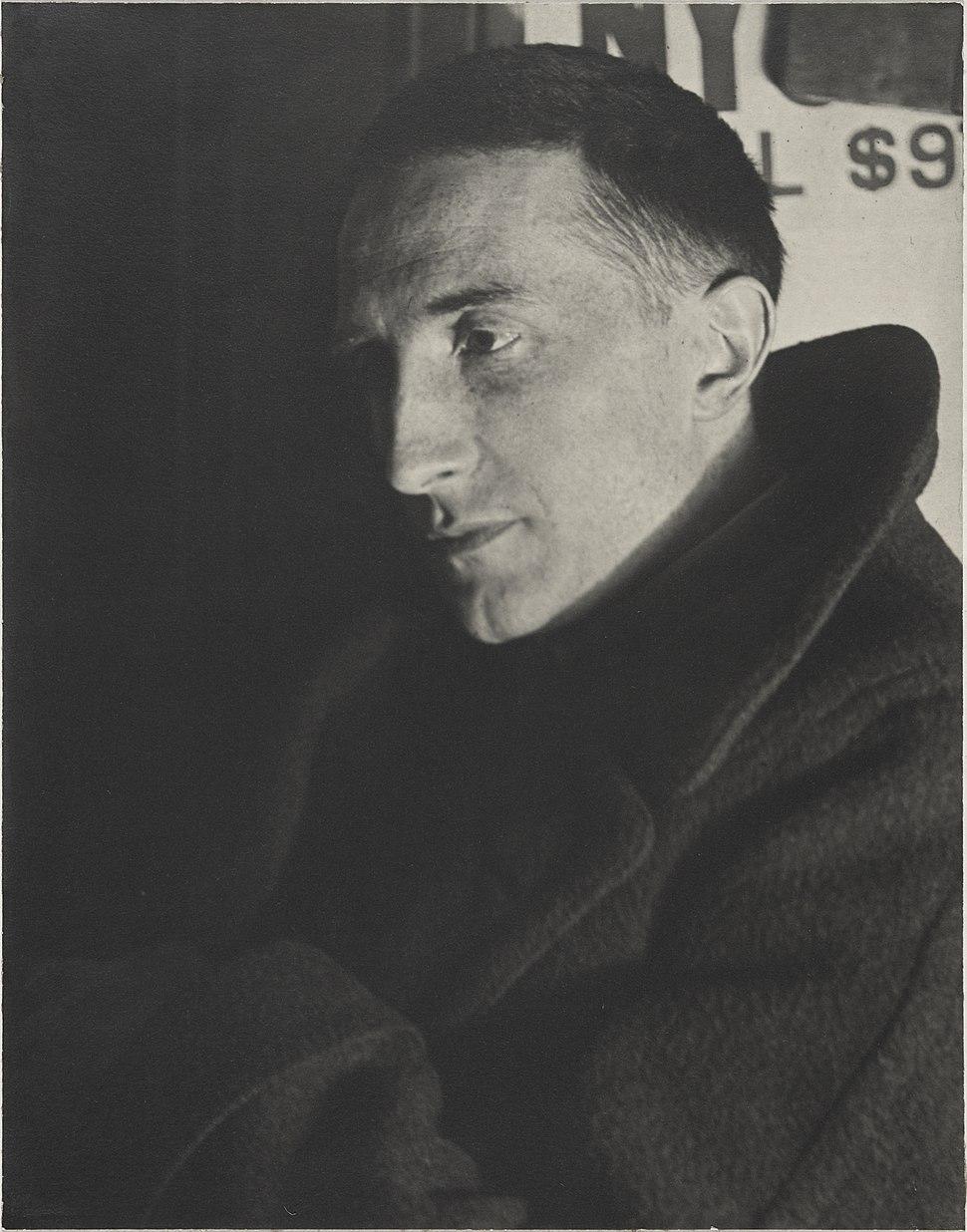 Man Ray, 1920-21, Portrait of Marcel Duchamp, gelatin silver print, Yale University Art Gallery
