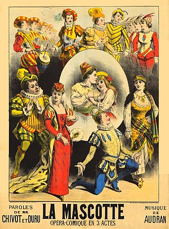 La mascotte - Poster for first production, 1880