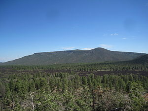 Mount Trumbull Wilderness - A view of Mt. Trumbull from a nearby cinder cone