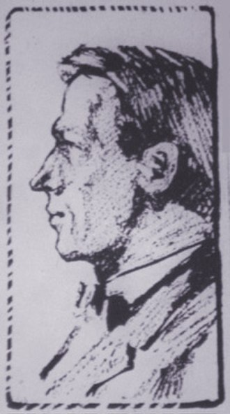 Scott Nearing - Nearing in an illustration for NY Call, 1918