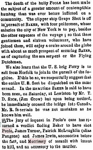 William Poole - Brooklyn Eagle, March 20, 1855