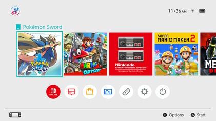 Nintendo Switch Menu screenshot