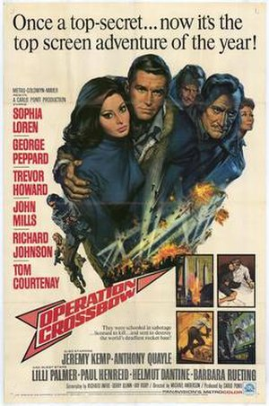 Operation Crossbow (film) - theatrical film poster by Frank McCarthy