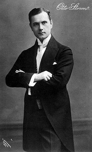 Der Graf von Luxemburg - Otto Storm who sang the title role of Der Graf von Luxemburg at its world premiere