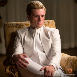 Peeta Mellark - Peeta Mellark as portrayed by Josh Hutcherson in the 2014 film, The Hunger Games: Mockingjay - Part 1.