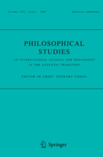 Philosophical Studies - Image: Philosophical Studies