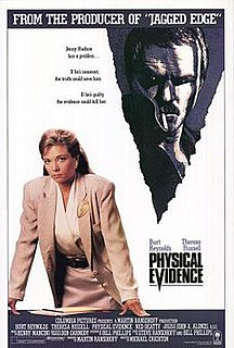 <i>Physical Evidence</i> 1989 film directed by Michael Crichton