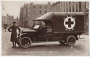 Royal Antediluvian Order of Buffaloes - First World War RAOB GLE Ambulance c. 1916