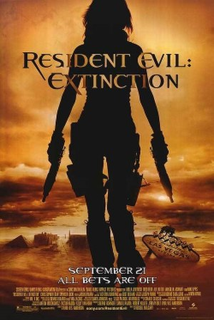 Resident Evil: Extinction - Theatrical release  poster