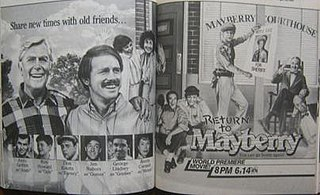 <i>Return to Mayberry</i> 1986 television film directed by Bob Sweeney