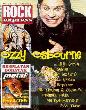 Rock Express - Cover of the 32nd issue, featuring Ozzy Osbourne
