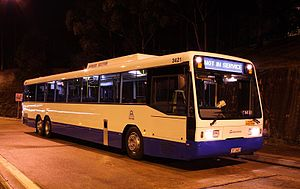 Multi-axle bus - Scania L113TRBL tri-axle transit bus in Sydney