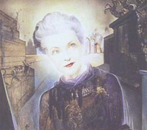 "Mona von Bismarck - ""The Kentucky Countess"" (detail), painting from 1943 by  Salvador Dalí (1904–1989). Courtesy of the Mona Bismarck American Center for Arts and Culture, Paris"