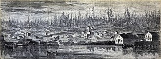 History of Seattle - Seattle, engraving from Harper's New Monthly Magazine (September 1870)