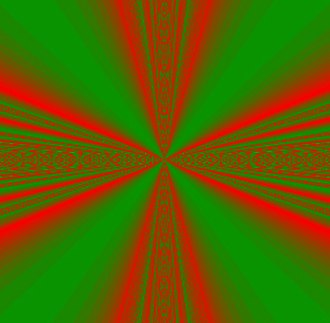 Infinite compositions of analytic functions - Example (S2)- A topographical (moduli) image of a self generating series.