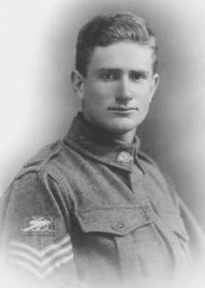 Vernon Treatt - Sergeant Treatt during his military service in 1917.
