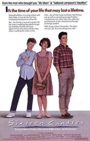 Sixteen Candles - Theatrical release poster