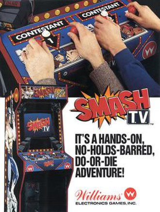 Smash TV - Promotional arcade flyer