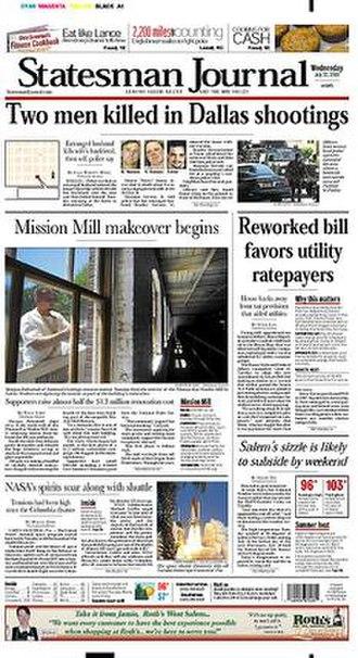 Statesman Journal - Image: Statesman Journal front page