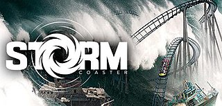 <i>Storm Coaster</i> roller coaster