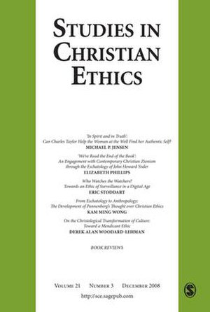 Studies in Christian Ethics - Image: Studies in Christian Ethics journal front cover image