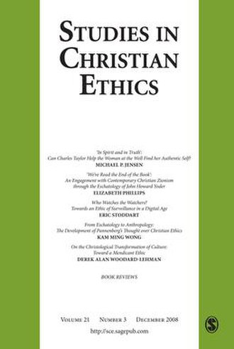 Studies in Christian Ethics - Image: Studies in Christian Ethics journal front cover image