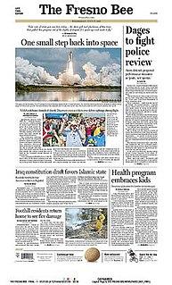 <i>The Fresno Bee</i> daily newspaper serving Fresno, California