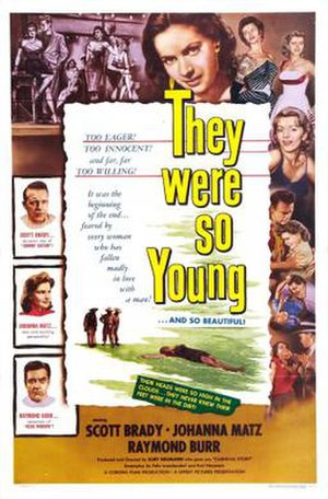They Were So Young - Theatrical release poster