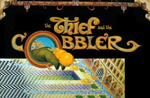 The Thief and the Cobbler - An unreleased poster made near the end of the film's production, before it was taken from Richard Williams.