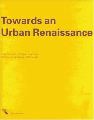 Towards an Urban Renaissance - Cover of Towards an Urban Renaissance