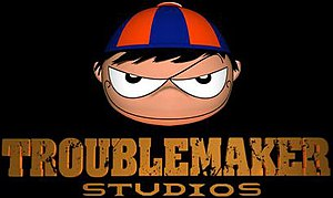 Troublemaker Studios - Logo, featuring the boy (Pepino) from the company.