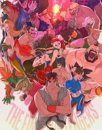 Ultra Street Fighter II: The Final Challengers - Packaging artwork
