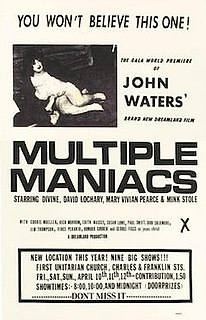 <i>Multiple Maniacs</i> 1970 film by John Waters