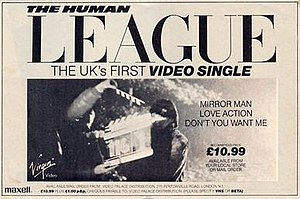 The Human League Video Single (1983) - Advert for video single in the UK press