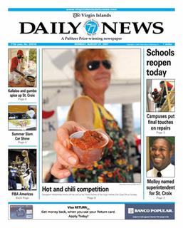 <i>The Virgin Islands Daily News</i> Newspaper in Saint Thomas, United States Virgin Islands