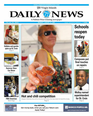 The Virgin Islands Daily News - Image: Virgin Islands Daily News