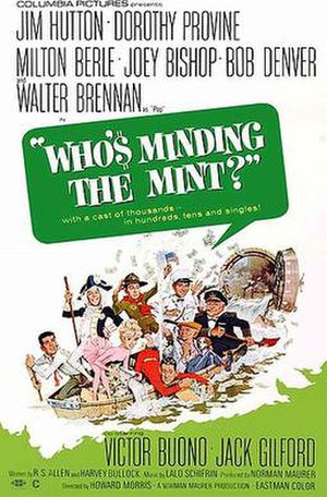 Who's Minding the Mint? - 1967 film poster by Jack Rickard