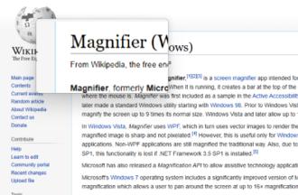 Magnifier (Windows) - Image: Windows Magnifier