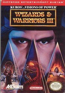 <i>Wizards & Warriors III: Kuros: Visions of Power</i> 1992 NES game