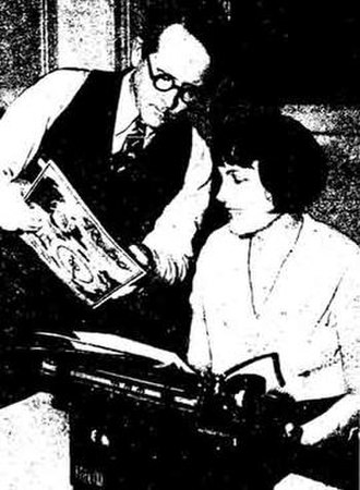 Rena Vale - Rena Vale at work in 1932, with Wycliffe A. Hill Los Angeles Times photo