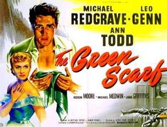 The Green Scarf - Original British quad poster