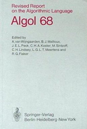 ALGOL 68 - Image: Algol 68Revised Report Cover