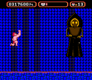 Flatwoods monster - The final boss at the end of the videogame Amagon