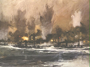 Claus Bergen - Battle of Jutland, 1916, C. Bergen