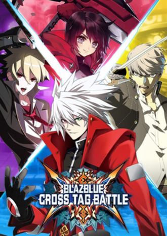 BlazBlue: Cross Tag Battle - Limited edition boxart, featuring (clockwise from top) Ruby, Yu, Ragna, and Hyde