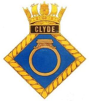 HMS Clyde (N12) - Image: CLYDE badge 1