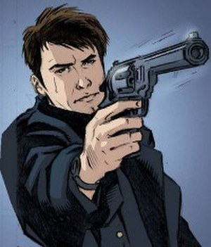 Jack Harkness - Jack as he appears in the first Torchwood comic book, art by SL Gallant; the character is featured in a number of different media.