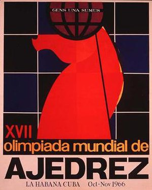 17th Chess Olympiad - The official poster for the Olympiad.