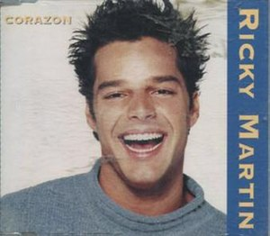 Corazón (Ricky Martin song) - Image: Corazon single by Ricky Martin